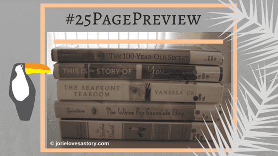 #25PagePreview (for 7 July) created by Jorie in Canva. Book Photography Credit: Jorie of jorielovesastory.com.