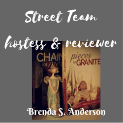 Brenda S. Anderson Street Team badge created by Jorie in Canva. Photo Credit: Jorie of jorielovesastory.com