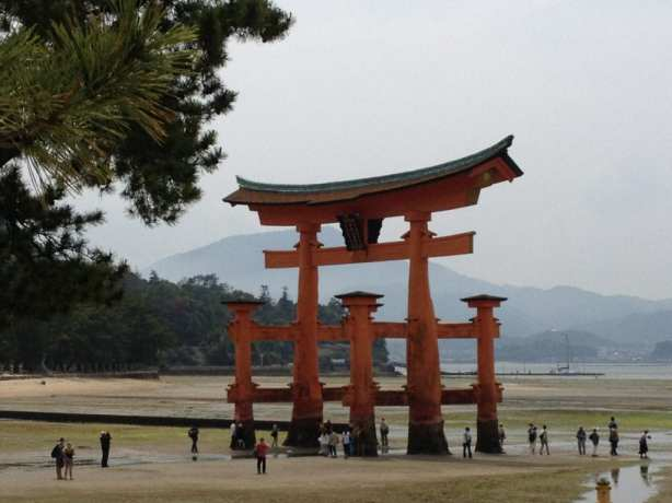 Great Torii of Itsukushima. Photo Credit: Susan Spann. Used with permission.
