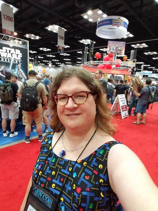 Author selfie at GenCon 2016. Photo credit: E. Chris Garrison, used with permission.