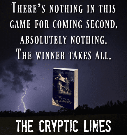 The Cryptic Lines quoted badge provided by Audiobookworm Promotions and used with permission.
