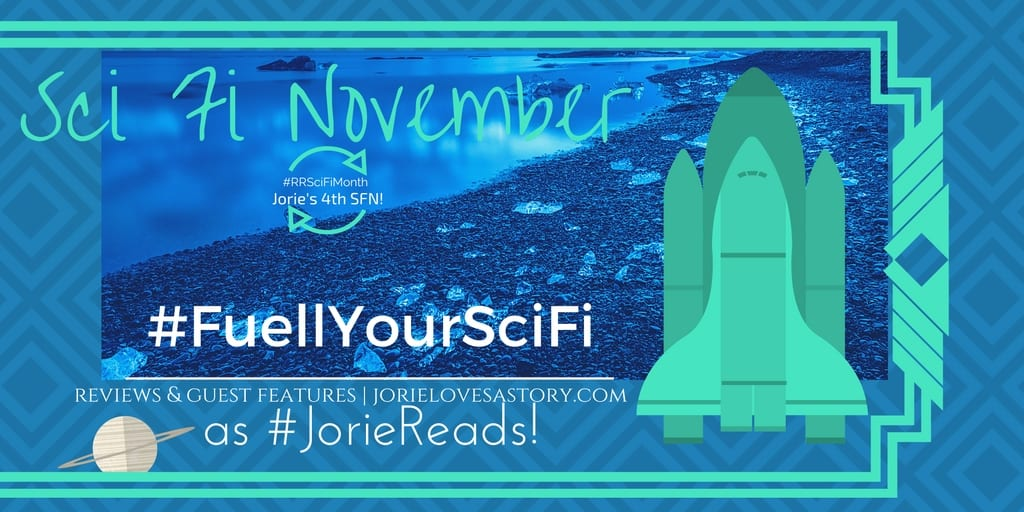Sci Fi November 2016 banner created by Jorie in Canva.