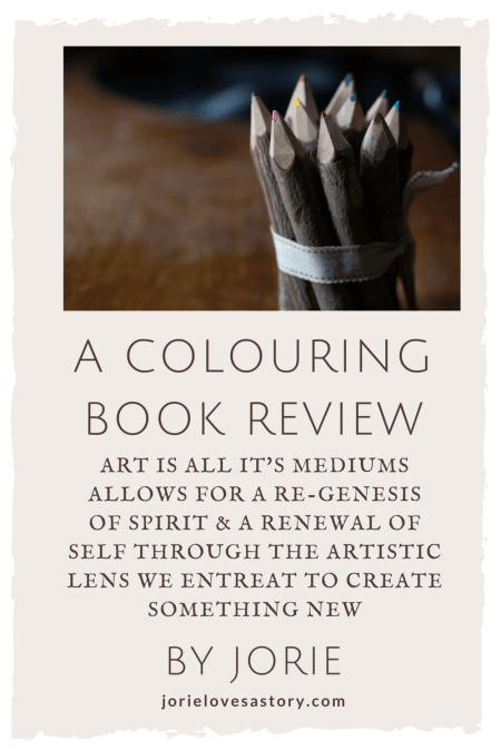 Colouring Book Review badge created by Jorie in Canva using Unsplash.com photography (Creative Commons Zero).