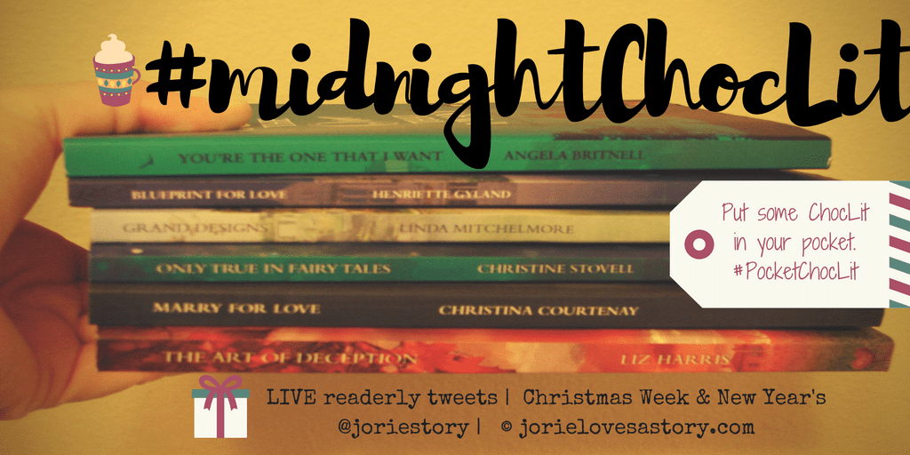 #MidnightChocLit banner created by Jorie in Canva. Book Photography Credit: Jorie of jorielovesastory.com.