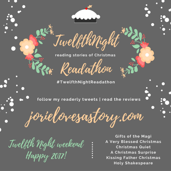 Twelfth Night Readathon badge created by Jorie in Canva.
