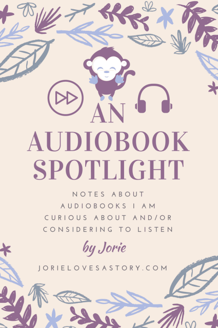 Audiobook Spotlight banner created by Jorie in Canva.