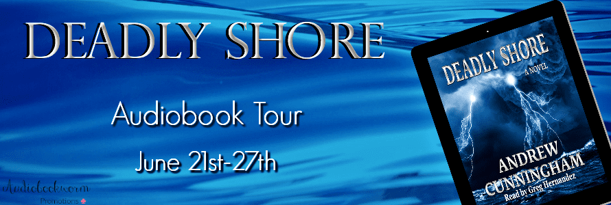 Deadly Shore audiobook blog tour via Audiobookworm Promotions