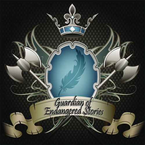 Guardians of Endangered Stories badge provided by the author Nicole Evelina