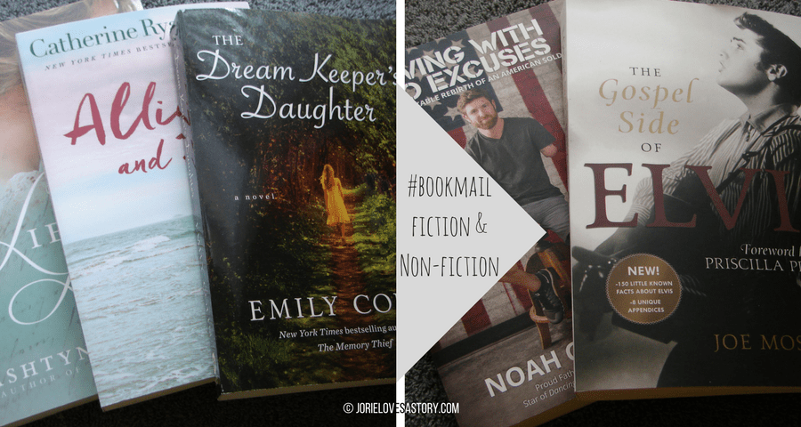 Lies & Letters; The Dream Keeper's Daughter & Noah Galloway memoir bookmail. Book Photography Credit: Jorie of jorielovesastory.com. Photo edits and collage created in Canva.