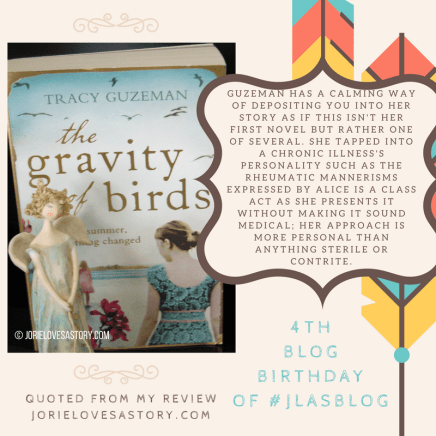 The Gravity of Birds. Book Photography Credit: Jorie of jorielovesastory.com. Photo edits and collage created in Canva.