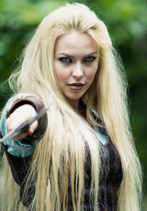 Sol Geirsdottir as 'Rayden Valkyrie' as portrayed in the tv pilot. <br>Photo Credit: Silvio Wolf Busch.<br> Photo used with permission of Seventh Star Studios.