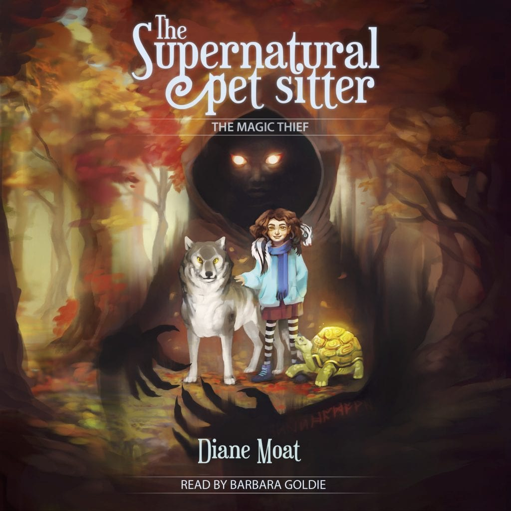 """#SpooktasticReads Audiobook Review   """"The #Supernatural Pet Sitter"""" by Diane Moat (narrated by Barbara Goldie) A #MiddleGrade #paranormal tale of friendship between a gnome & a witch!"""