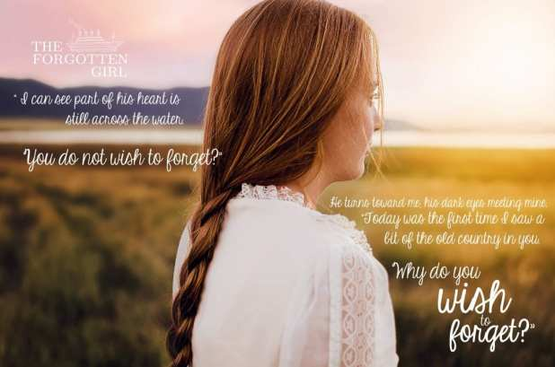 The Forgotten Girl Quote banner provided by the author Heather Chapman and is used with permission.