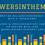 Towers in the Mist Readalong hosted by Jorie for Elizabeth Goudge Day 2018. Badge created in Canva.