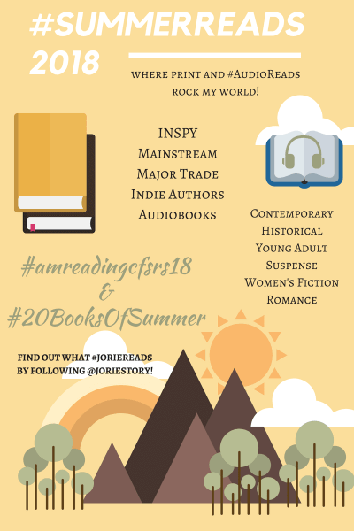 #SummerReads 2018 banner created by Jorie in Canva