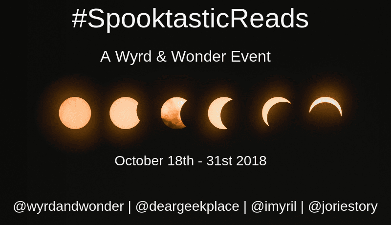 #SpooktasticReads banner created by Lisa (@deargeekplace) Photo Credit: Unsplash Photographer Mark Tegethoff. (Creative Commons Zero) Used with permission.