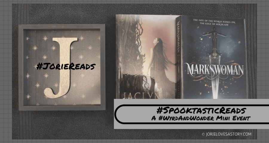 #SpooktasticReads banner created in Canva by Jorie. Photo Credit jorielovesastory.com