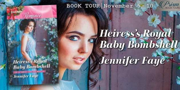 Heiress's Royal Baby Bombshell blog tour banner provided by Prism Book Tours