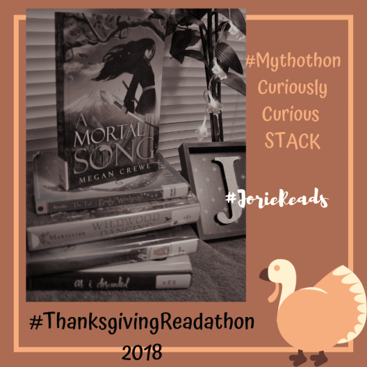#ThanksgivingReadathon Curiously Curious Stack badge created by Jorie in Canva. Photo Credit jorielovesastory.com