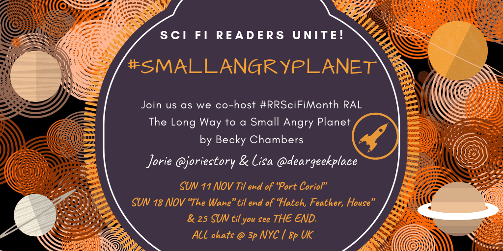 #smallangryplanet readalong badge created by Jorie in Canva