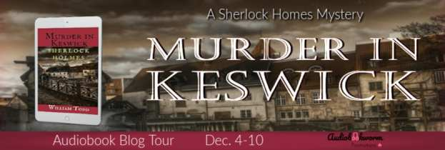 Murder in Keswick audiobook blog tour via Audiobookworm Promotions