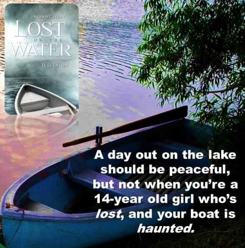 "Promo banner for ""Lost on the Water"" provided by the author D.G. Driver and is used with permission."