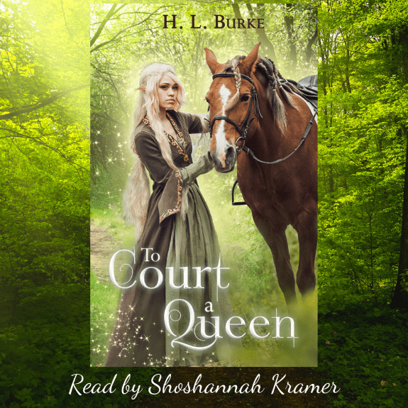 To Court a Queen Audiobook Cover provided by the author H.L. Burke