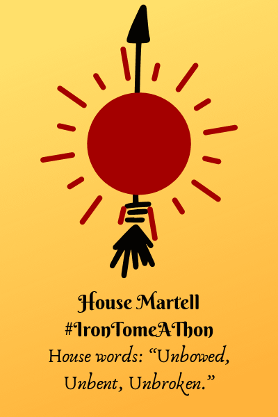 House Martell banner created by Jorie in Canva.