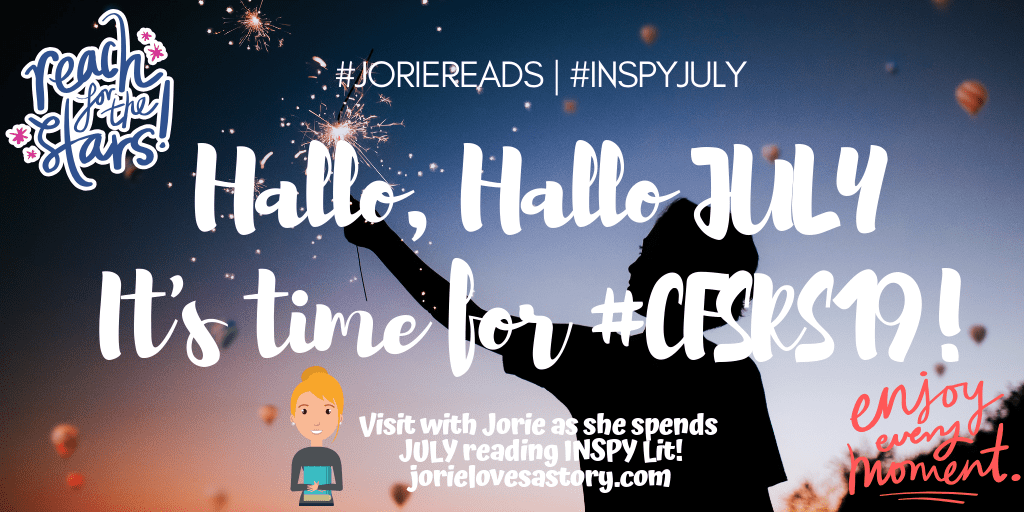 #INSPYJuly 2019 announcement banner created by Jorie in Canva.