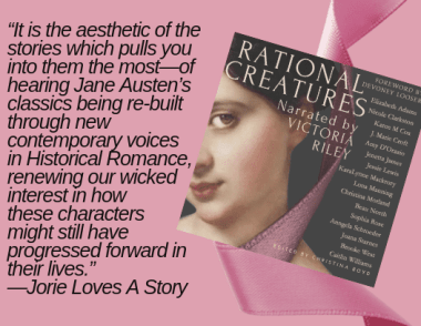 "Quote banner from jorielovesastory.com review for ""Rational Creatures"" provided by Christina Boyd."