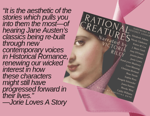 "Quote banner from jorielovesastory.com review for ""Rational Creatures"" provided by Christina Boyd. Used with permission."