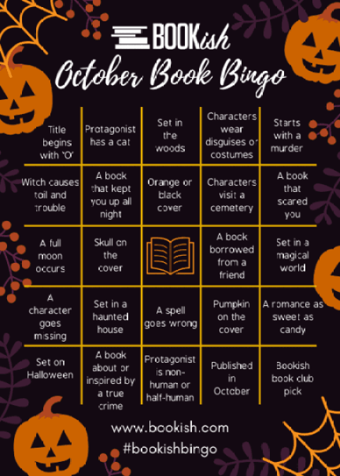 Bookish.com October Bingo Card; being used with permission.