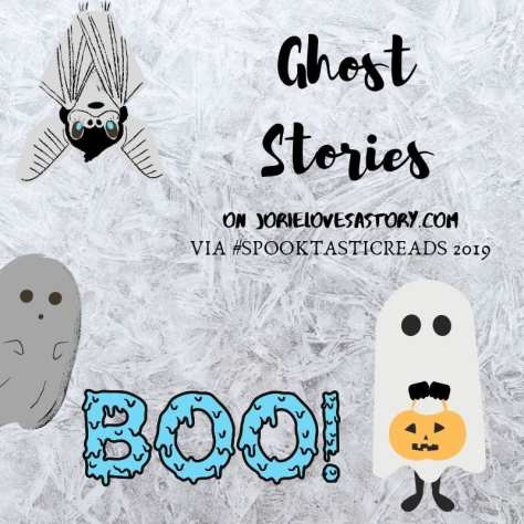 Ghost Stories banner created by Jorie in Canva.