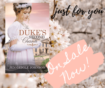 The Duke's Second Chance Promo Badge provided by Singing Librarian Book Tours and is used with permission.