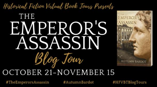 The Emperor's Assassin blog tour banner via HFVBTs