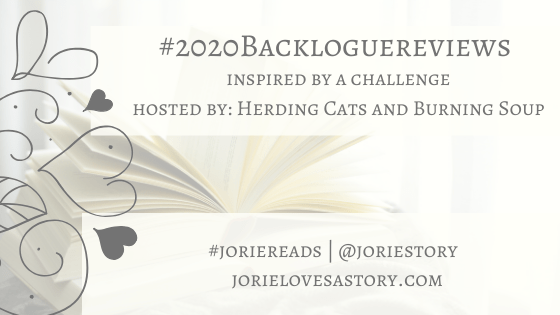 2020 Backlogue Reviews banner created by Jorie in Canva.