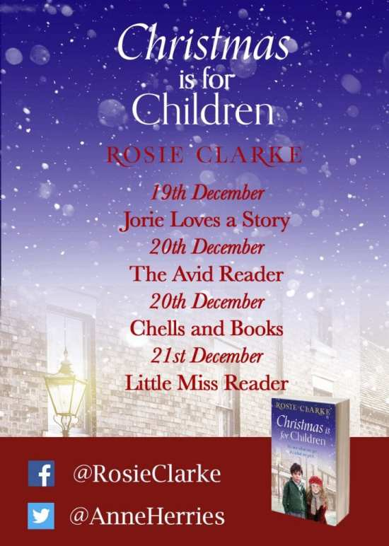 Christmas is for Children Blog Tour Poster provided by Head of Zeus.