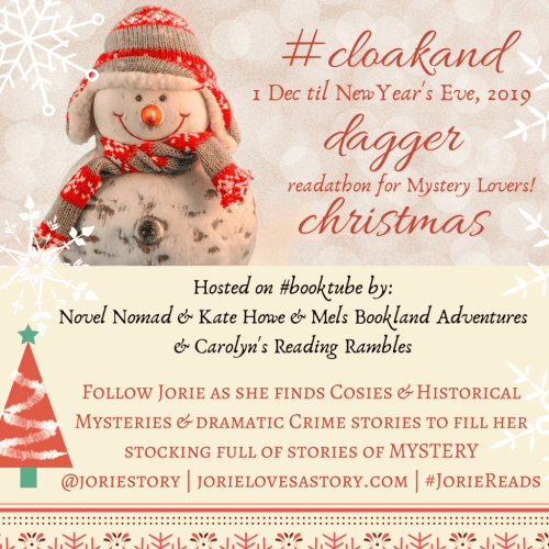 #CloakandDaggerChristmas badge created by Jorie in Canva.