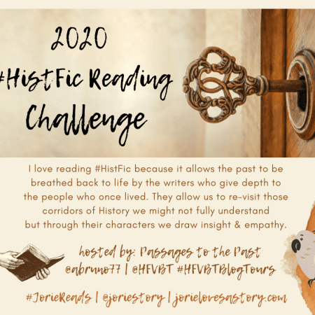 2020 HistFic Reading Challenge banner created by Jorie in Canva.