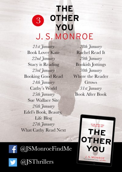 JS Monroe The Other You blog tour poster part three provided by Head of Zeus and is used with permission.