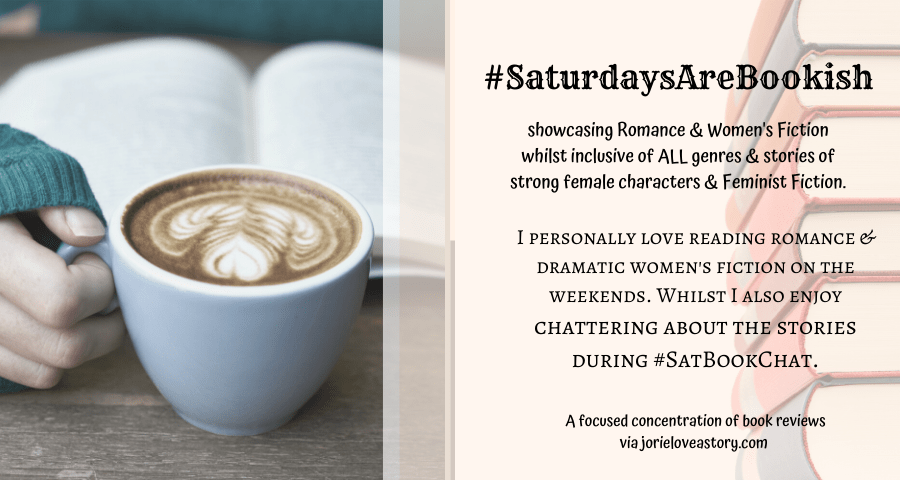 #SaturdaysAreBookish banner created by Jorie in Canva.