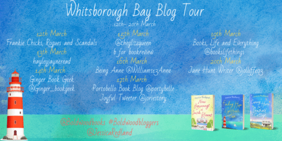 Whitsborough Bay Blog Tour banner provided by Boldwood Books and is used with permission.