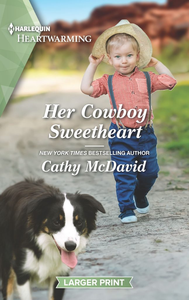 "#RomanceTuesdays | feat. #HarlequinHeartwarming author Cathy McDavid's ""Her Cowboy Sweetheart"" (The Sweetheart Ranch) as Jorie has to 'let go' of a series which ends in a quartet!"