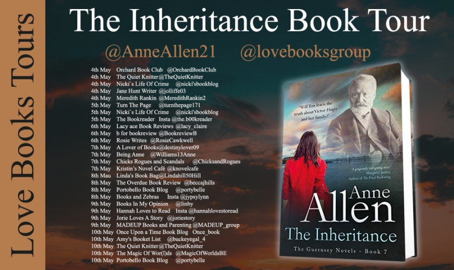 Inheritance Blog Tour Poster provided by Love Books Tours and is used with permission.