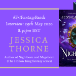 #FriFantasyReads Jessica Thorne banner provided by Emma S. Jackson and is used with permission.