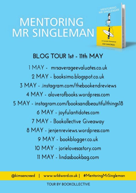 Mentoring Mr Singleman blog tour banner provided by Bookollective