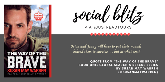 "Book Quote Social Tour for ""The Way of the Brave"" graphic created by Jorie in Canva."