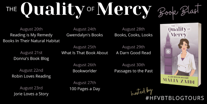 The Quality of Mercy book blast tour banner provided by HFVBTs and is used with permission.