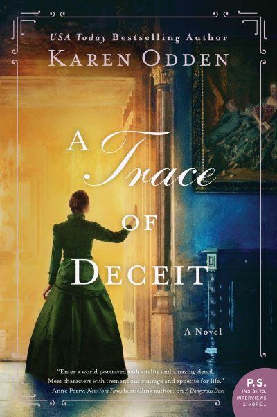 "A #CrimeFicFridays Book Spotlight | feat. the Historical Suspense novels by Karen Odden with a light of joy on ""A Trace of Deceit"""