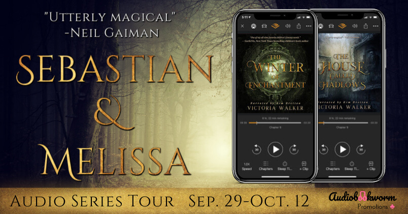 Sebastian & Melissa series blog tour banner provided by Audiobookworm Promotions and is used with permission.